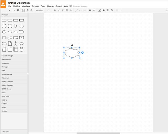 Inserimento immagini, oggetti e clipart su Draw.io