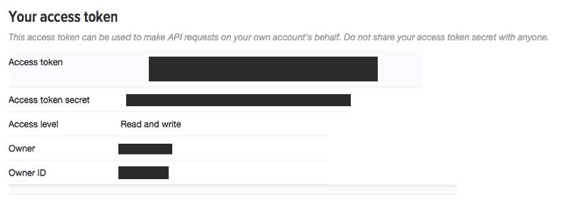 Twitter access token