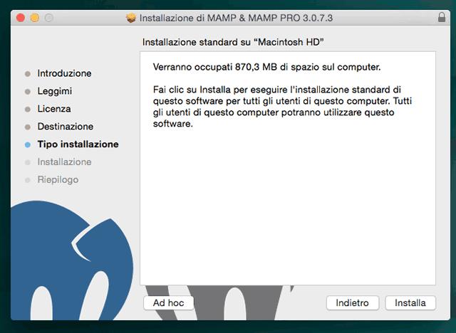 come installare mamp su mac