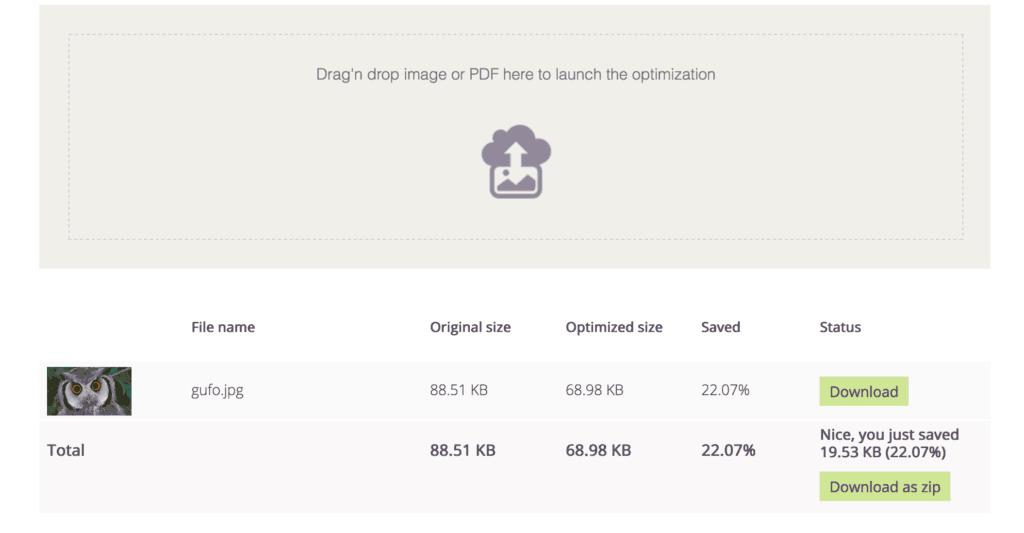 compressione immagini online tool