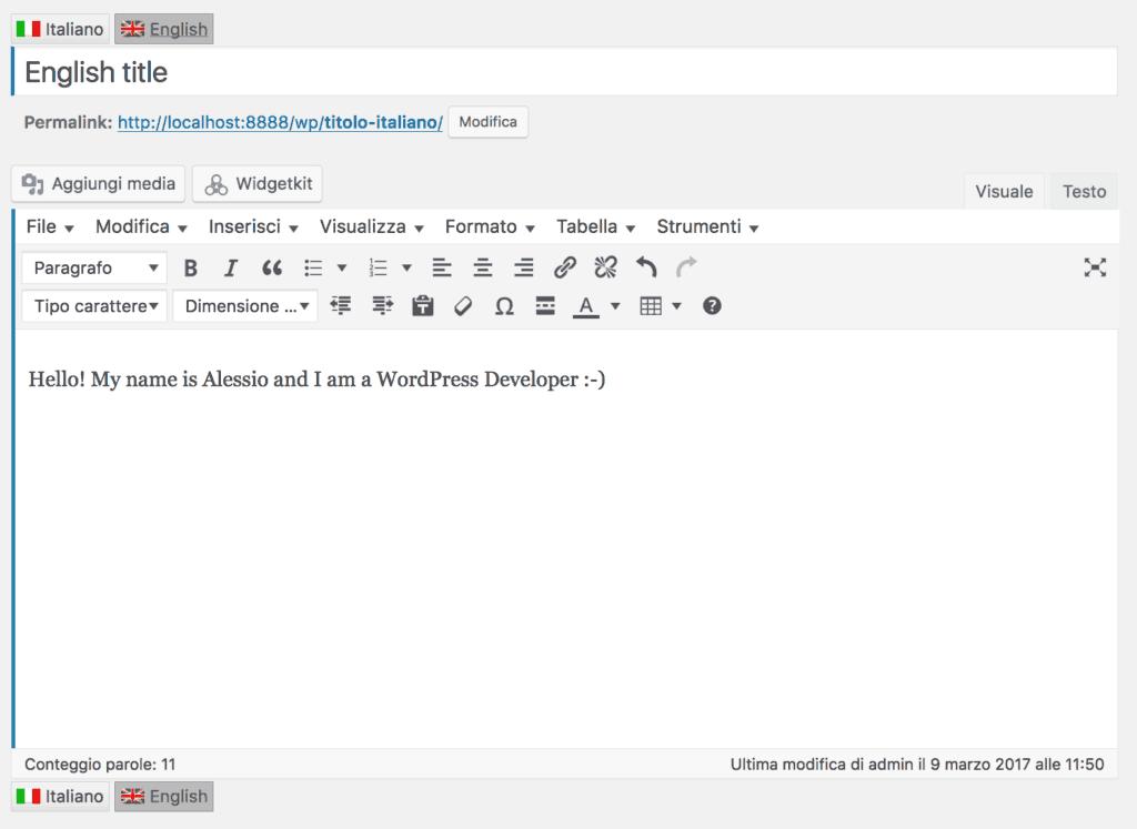 wordpress come tradurre sito in diverse lingue
