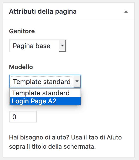 page template wordpress