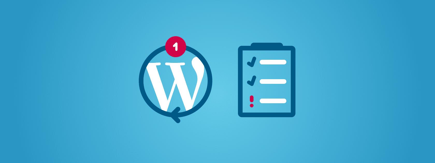 servizio aggiornamento wordpress