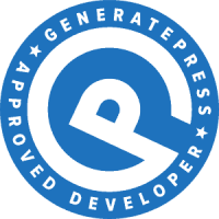 generatepress expert developer - programmatore generate press