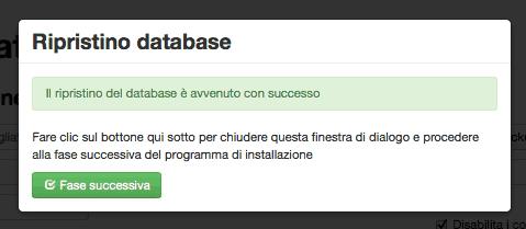 Fase 2 database joomla rispristinato