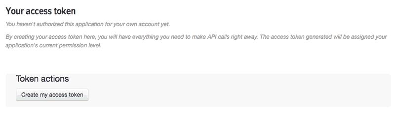 Creazione Access Token di accesso a Twitter