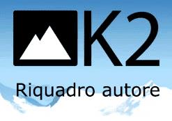 k2 configurazione riquadro autore