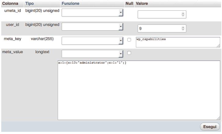 wp_usermeta administrator