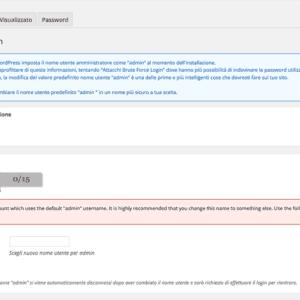 cambia utente login wordpress