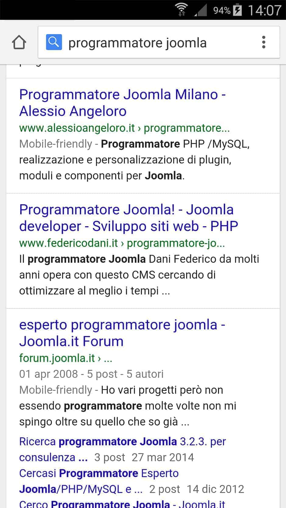 Google snippet mobile-friendly