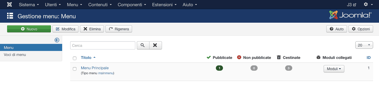 come configurare menu multilingua