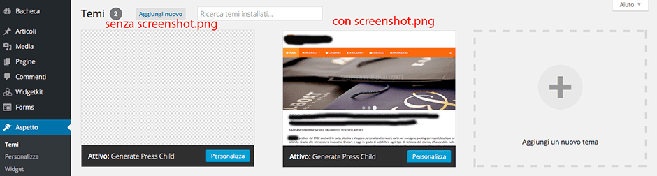 gestione temi con wordpress child theme