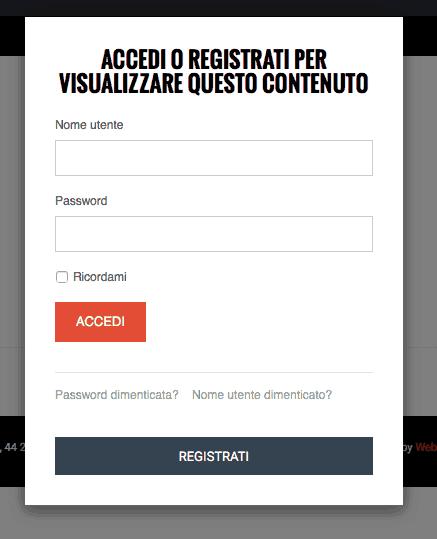 come nascondere i contenuti di K2 agli utenti non registrati