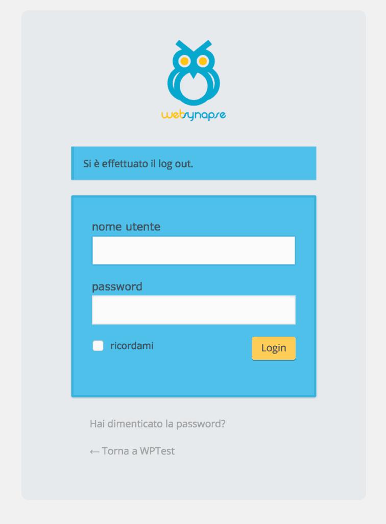 Come personalizzare form login di WordPress