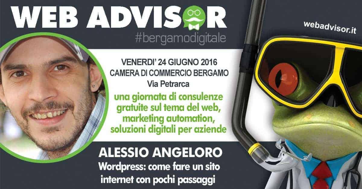 Alessio Angeloro, realtore al Web Advisor di Bergamo 2016