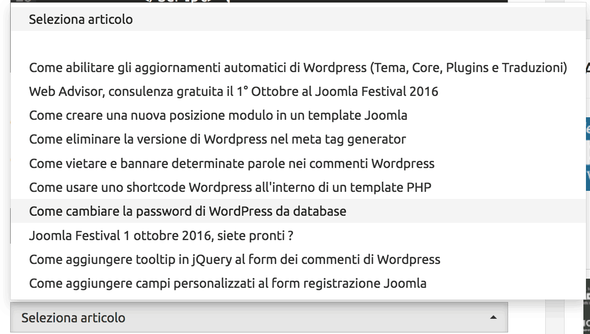 wp tendina post recenti