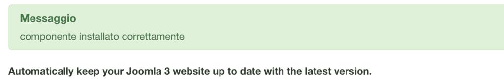 aggiornamento schedulato joomla