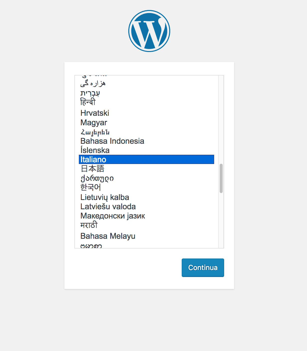 come installare wordpress su aruba cloud