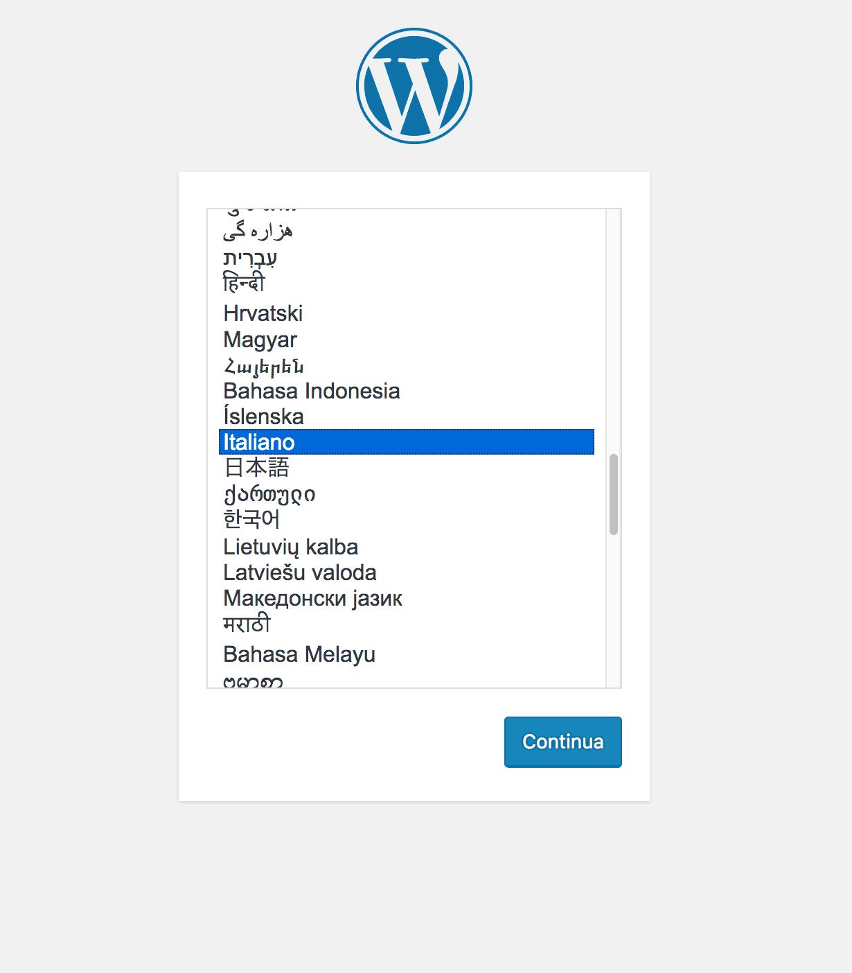 come installare wordpress su aruba cloud
