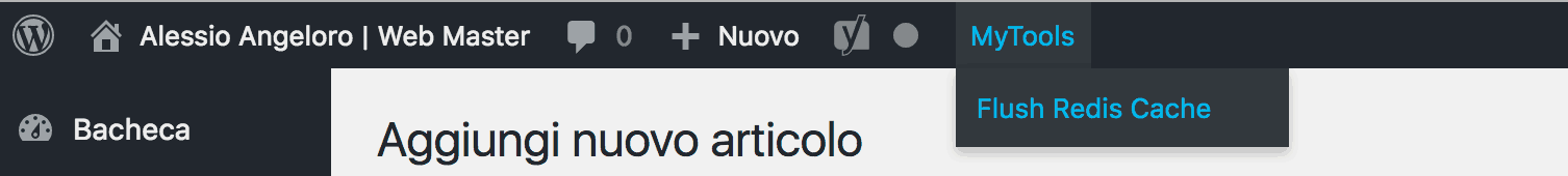 aggiungere voci menu admin bar wordpress