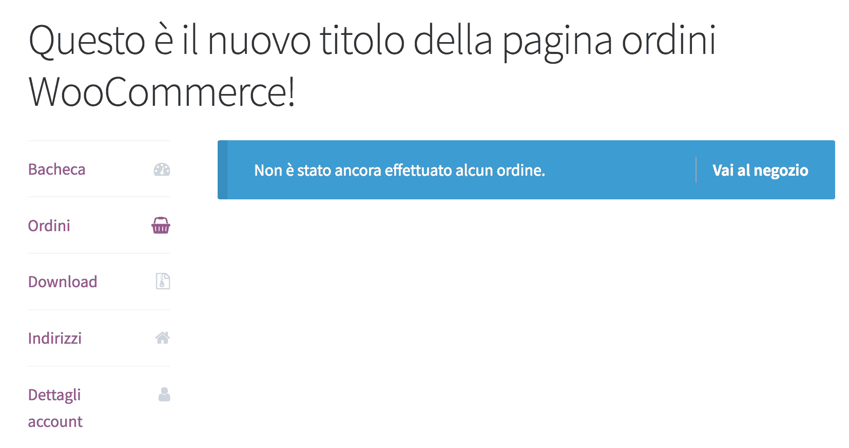 modificare titolo endpoints woocommerce