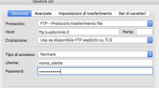 configurazione ftp joomla